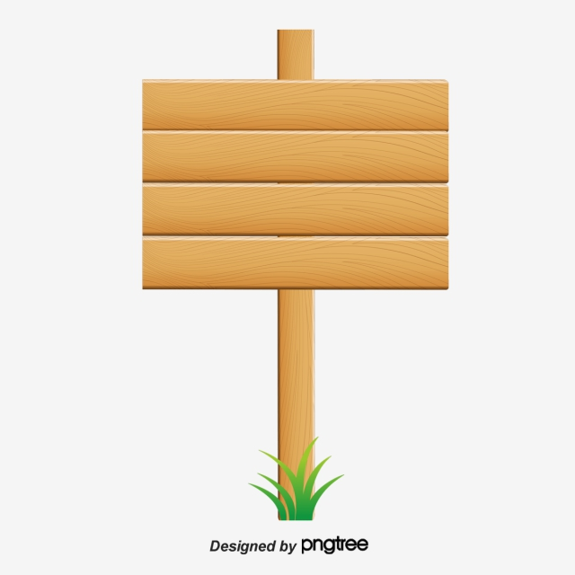 Wood Sign Png, Vector, PSD, and Clipart With Transparent Background.