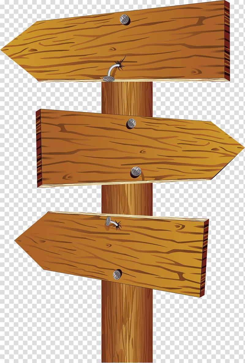 Brown signpost , Wood Arrow Sign , Wooden arrow transparent.