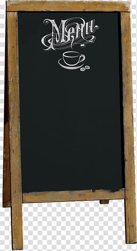 Empty Menu chalkboard transparent background PNG clipart.