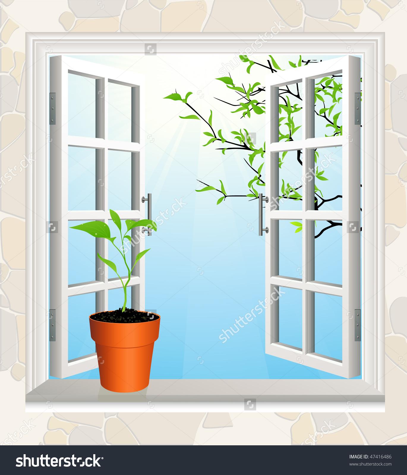 Window sill clipart.