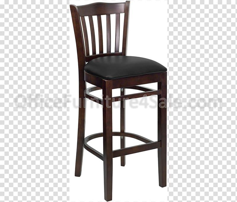 Bar stool Wood Seat Chair, WOODEN SLATS transparent.