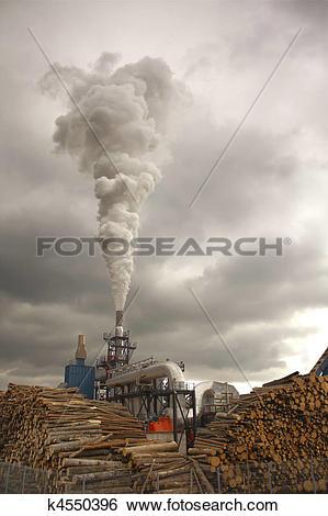 Stock Images of Wood smoke k4550396.