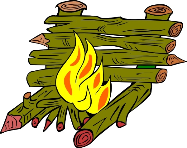 Fire Catching Wood clip art Free vector in Open office drawing svg.