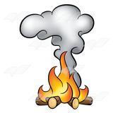 Fire Smoke Clipart.