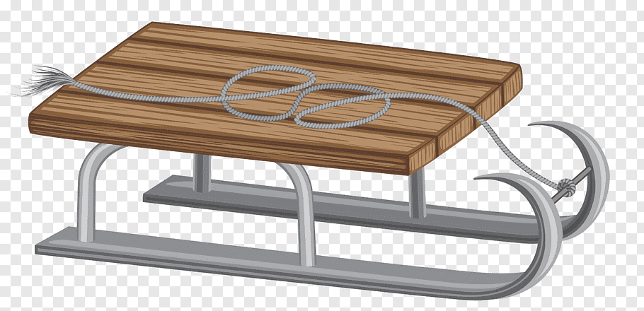 Sleigh illustration, Coffee table Angle, Winter Sled free.
