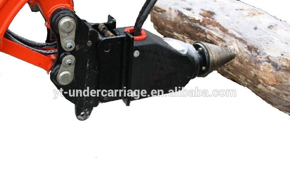 Cone Log Splitter,Screw Wood Splitter,Excavator Splitting Machine.