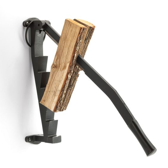 A true 'man' tool! Splitting wood to warm your chalet. A true.