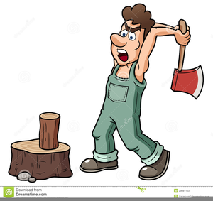Clipart And Splitting Wood.