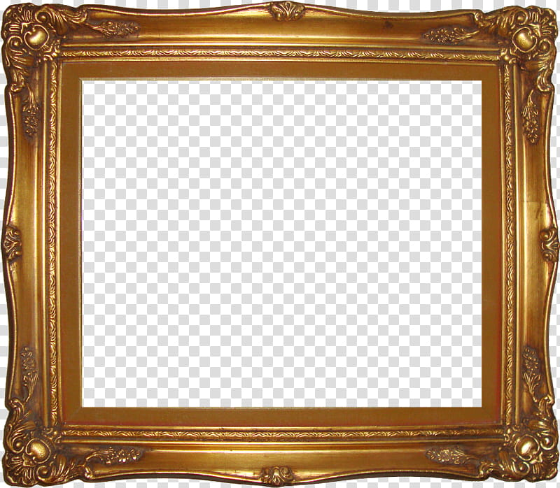 Red , square brown wooden frame transparent background PNG.