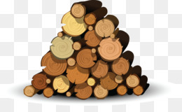 Stack Of Wood PNG.