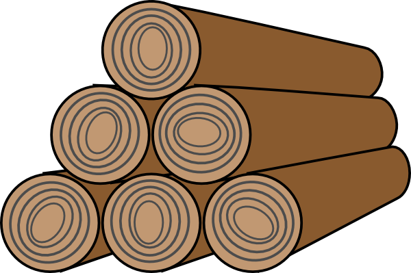 Stack of wood clipart image.