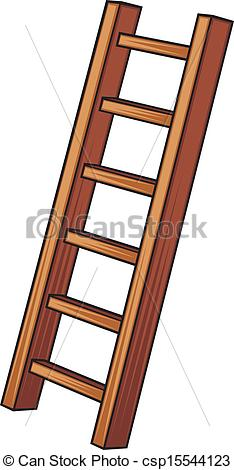 Vector Illustration of illustration of a wooden ladder csp15544123.