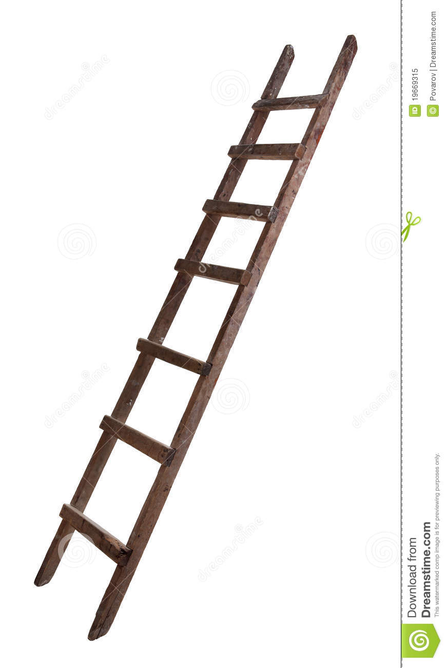 Old Wooden Ladder Royalty Free Stock Photo.