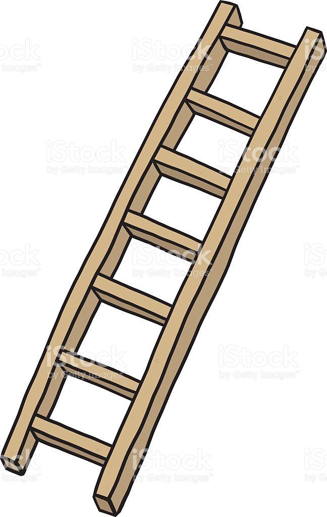Wooden Ladder stock vector art 491987086.