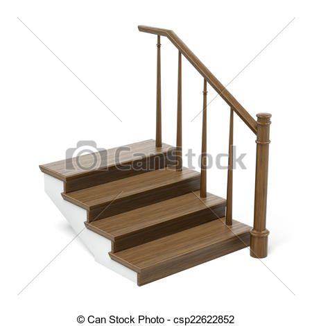 Stock Illustrations of wooden stairs cross section isolated on a.