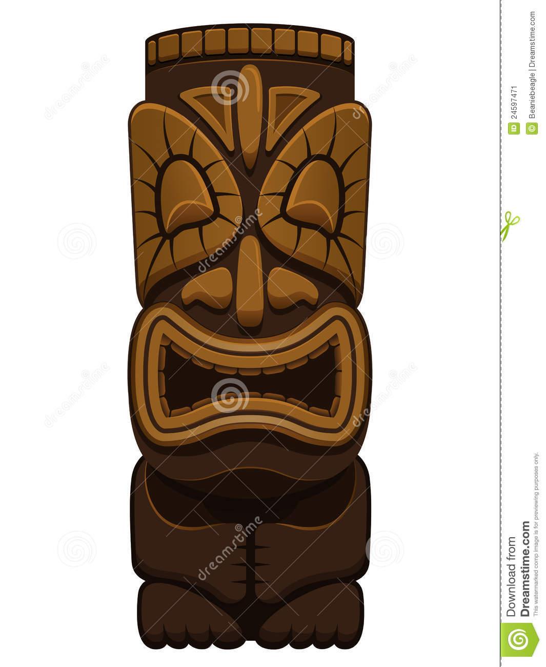 Hawaiian Tiki Statue Stock Image.