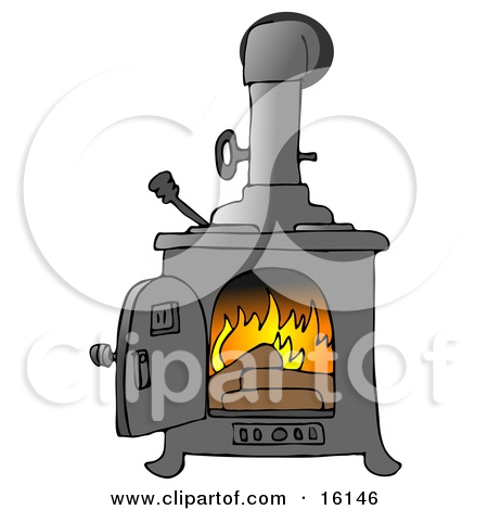 Wood stove clipart no background.