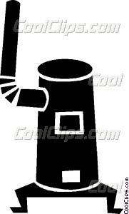 wood stove Vector Clip art.