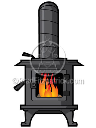 Wood Stove Fire Clipart.