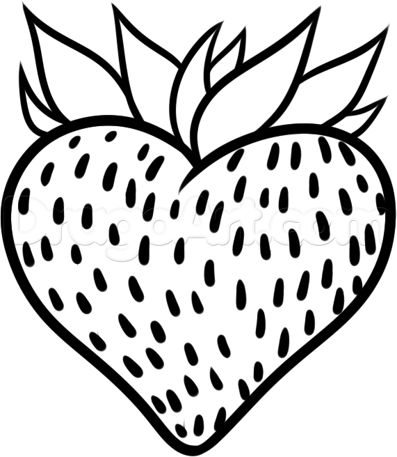 How to Draw a Strawberry Clip Art.