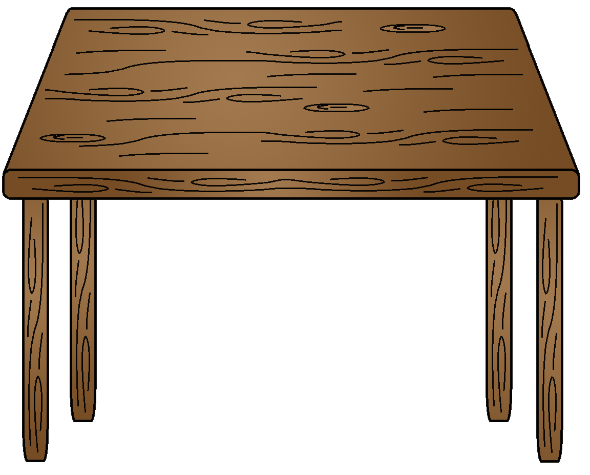 Wood Table Clipart.