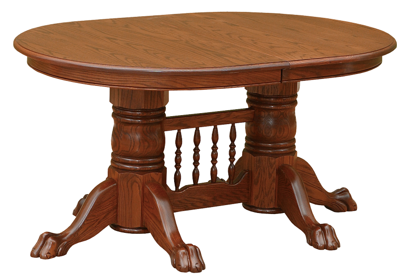 Solid Oak & Cherry Furniture Double Pedestal Tables: Quartersawn.