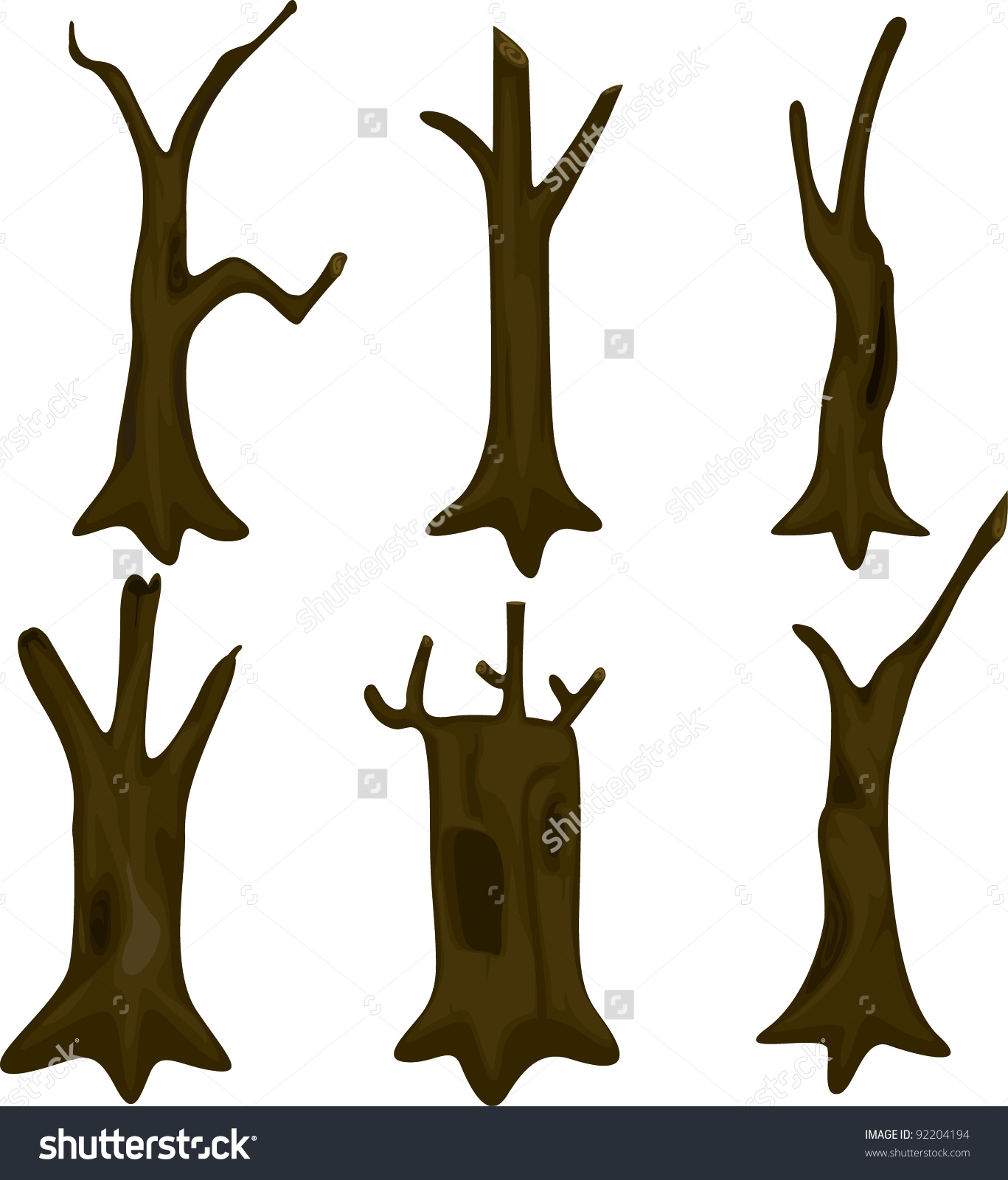 Illustration Tree Trunk Stock Vector 92204194.