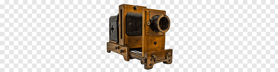 Vintage brown wooden land camera, Antique Camera free png.