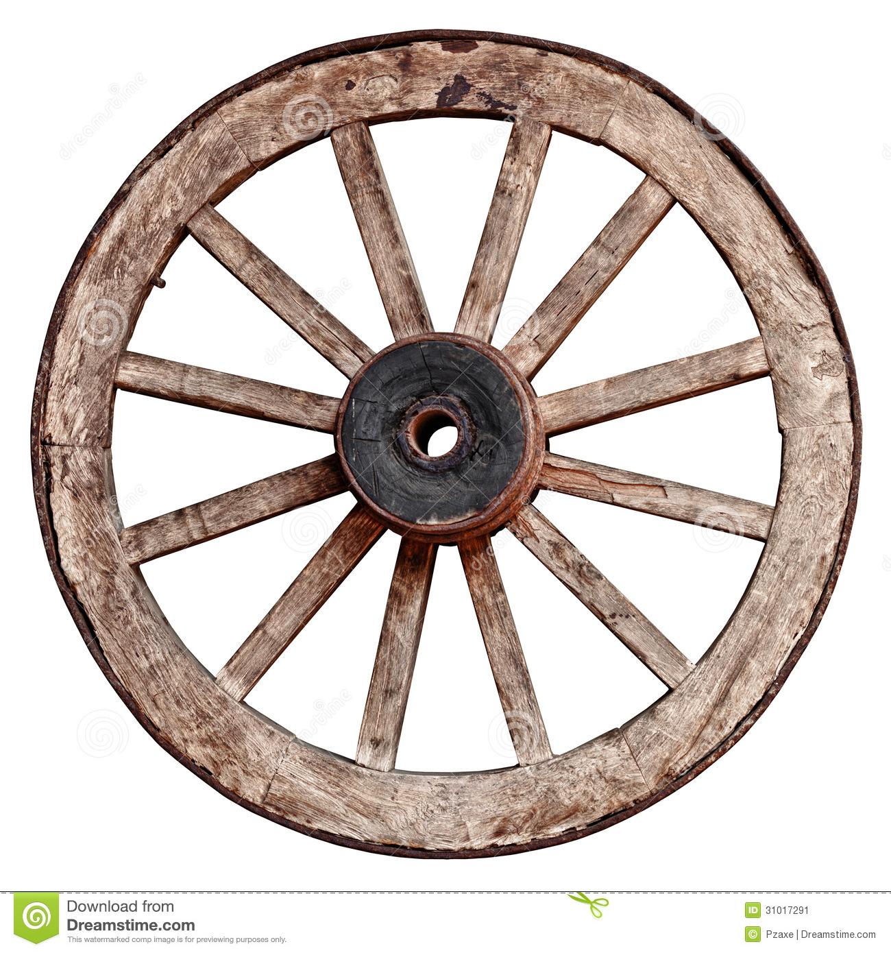 Old Wagon Wheel Clipart.