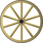 Western Wagon Wheel Clipart.