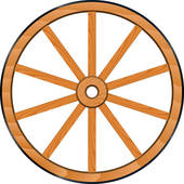 Wagon wheel clip art.