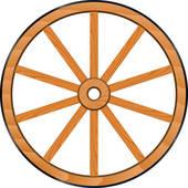 Wagon wheel clip art.