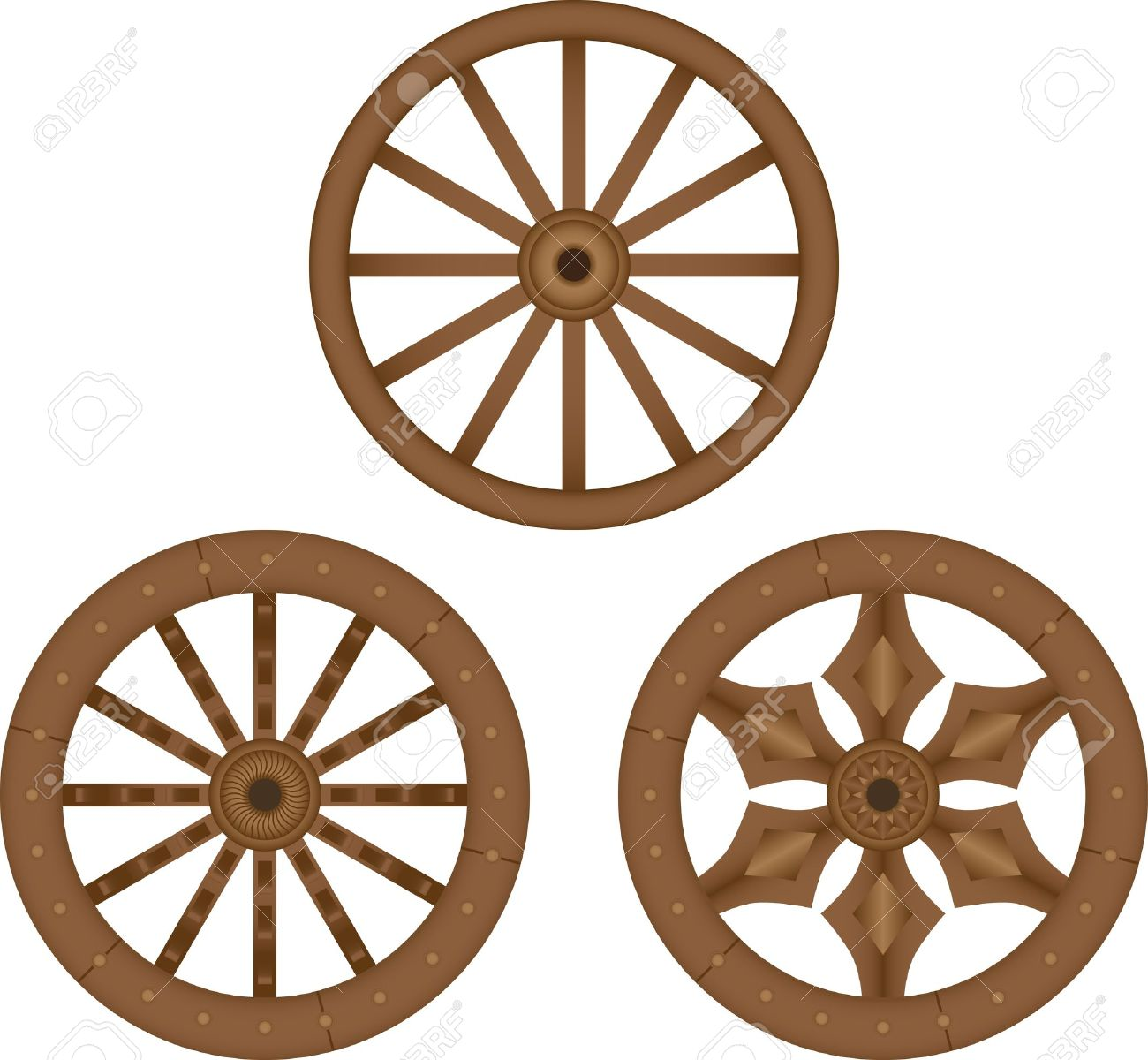 Old Wooden Wheels Royalty Free Cliparts, Vectors, And Stock.