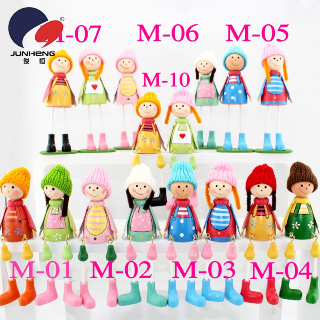 Supply Medium wood wool dolls doll suspending gifts WW006.