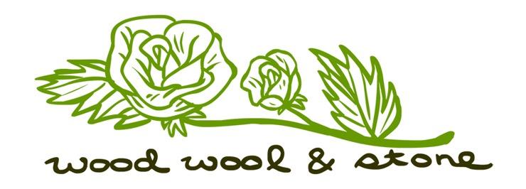 Wood Wool and Stone — Earrings.