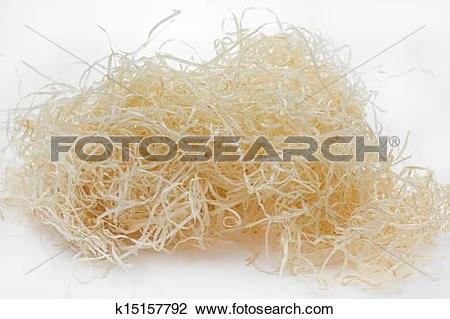 Stock Photo of Wood wool on white background k15157792.