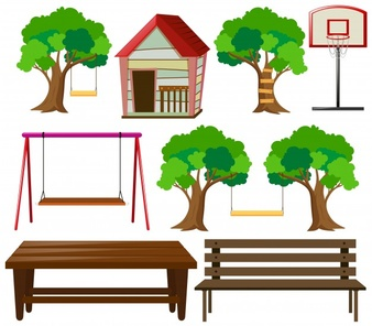 1029 Bench free clipart.