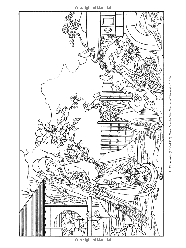 Color Your Own Japanese Woodblock Prints (Dover Art Coloring.