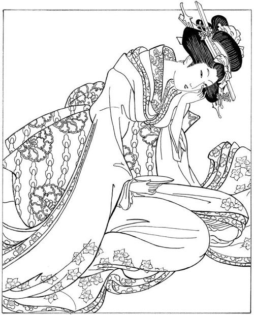 Japanese Coloring Books for Adults.
