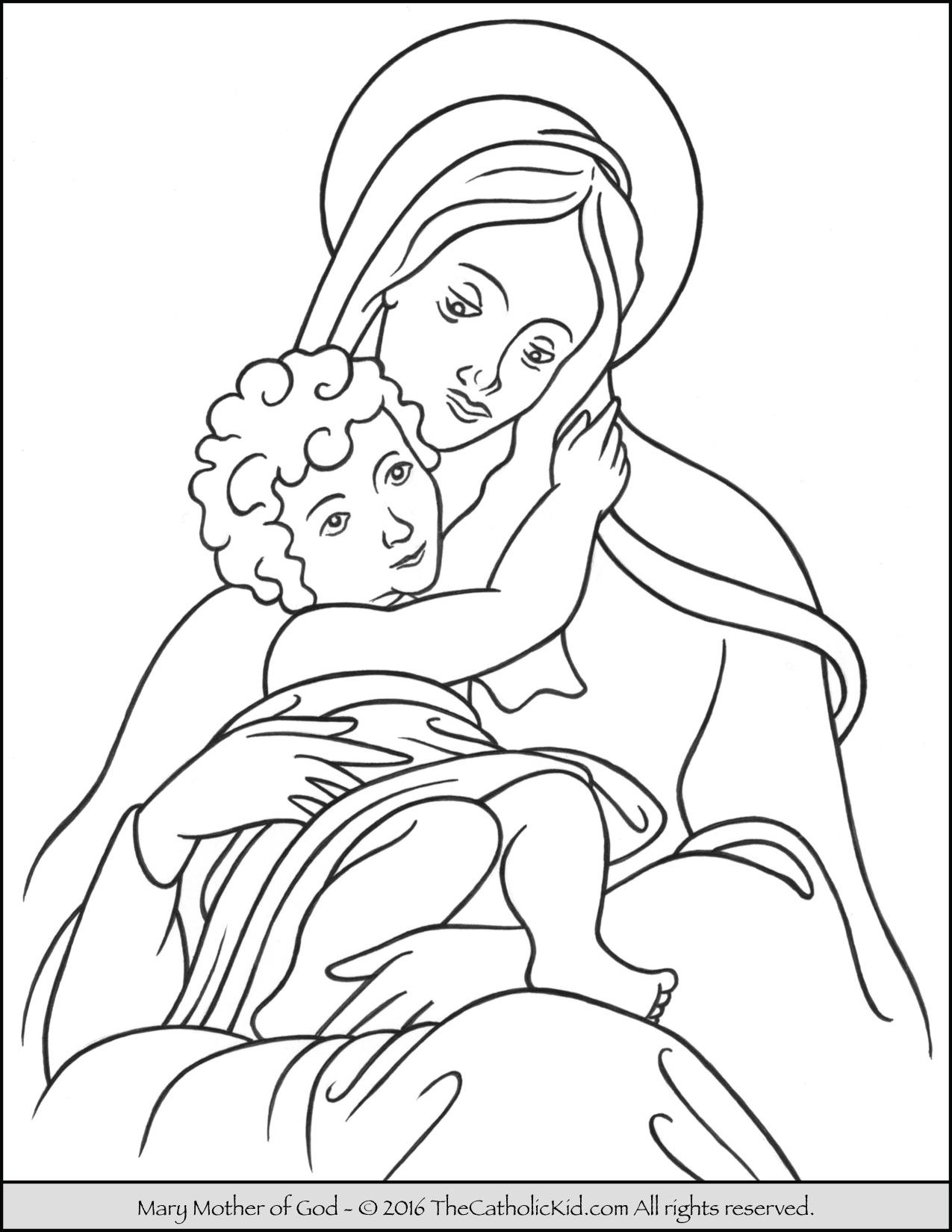 Woodblock clipart coloring sheet catholic Transparent.