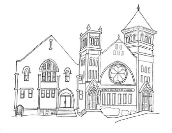 Woodblock clipart coloring sheet catholic Transparent.