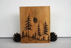 pyrography pine tree patterns.