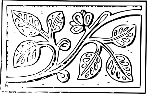Wood Carving Leaves clip art Free vector in Open office drawing.