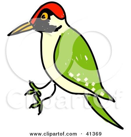 Clipart Depressed Woodpecker Bird.