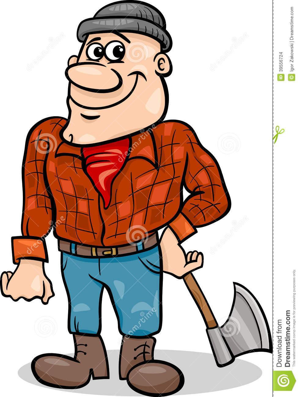 Lumberjack Cartoon Clipart.