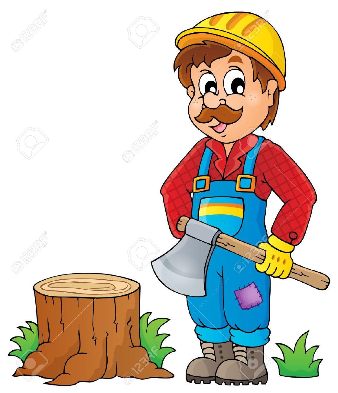 Woodcutter clipart.