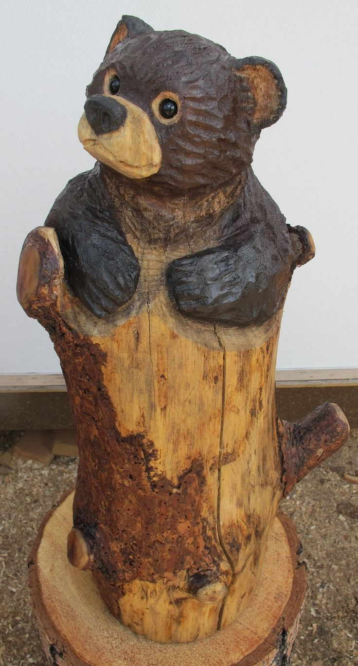 Wood Carvings: Wood Carvings Bears.