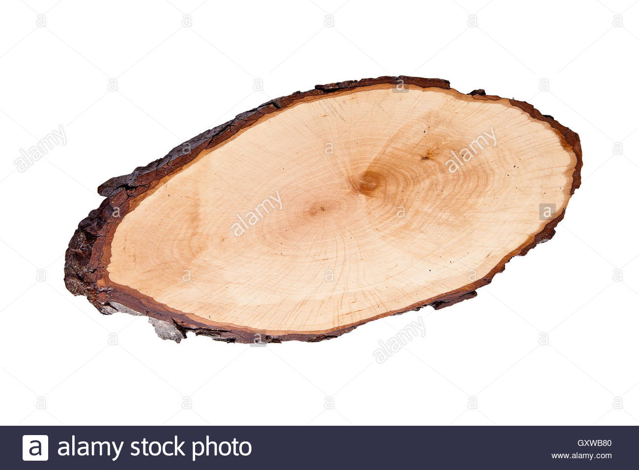 Wooden Round Cutting Board Isolated On A White Background.cut From.