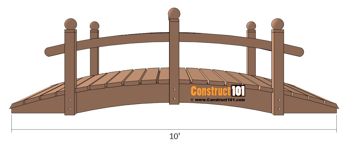 Arched Garden Bridge Plans.