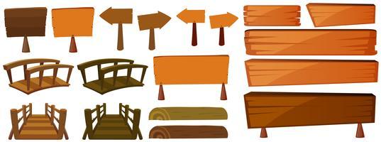Wooden Bridge Free Vector Art.